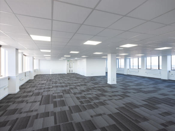 Open plan floorplate