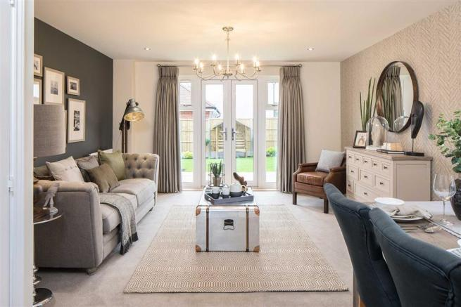 Expand the open plan layout with double doors to the garden