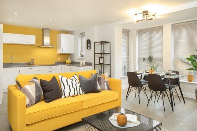 Landmark Square Wokingham  Plot 2 Show Apartment Lounge dining