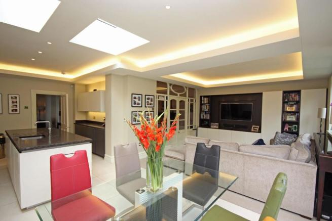 Family Room Open Plan with Kitchen