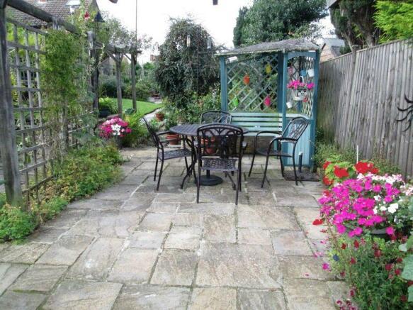 Paved patio area