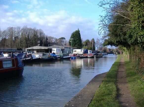 Canal through ...