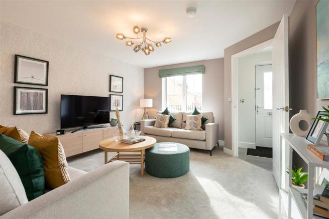 The living room of the Gosford show home at Oak Spring Gardens