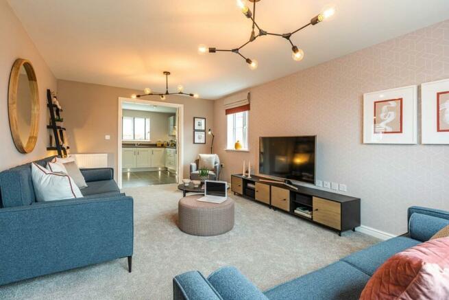 Large, open plan lounge