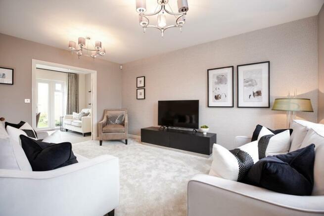 Living room of the Garrton