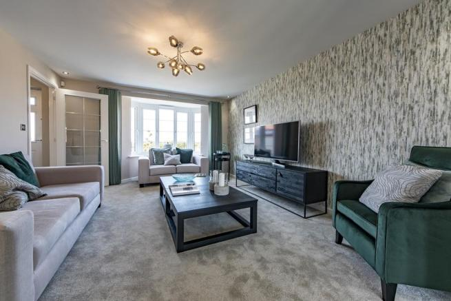 The living room of the Shelford Show Home