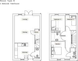 House Type B - 3 Bed