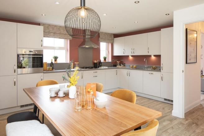 Open plan kitchen with dining area Alderney 4 bedroom detached home