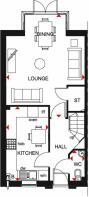 Woodcote GF floor plan clipstone park
