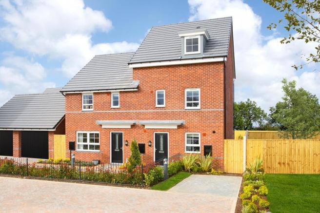 External view of the ellerton and Woodcote showhomes