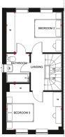 Floor plan showing the ground floor of a Norbury 3 bedroom home