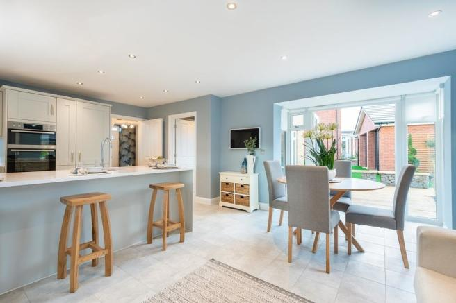 Moreton kitchen with dining area and French doors
