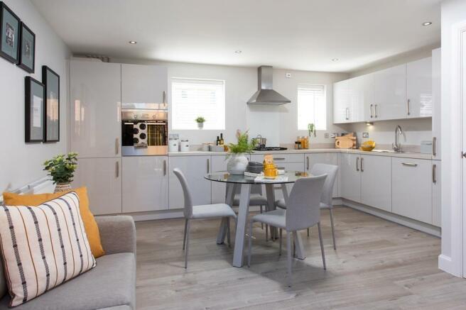 Harrier Chase Show Home Alderney kitchen