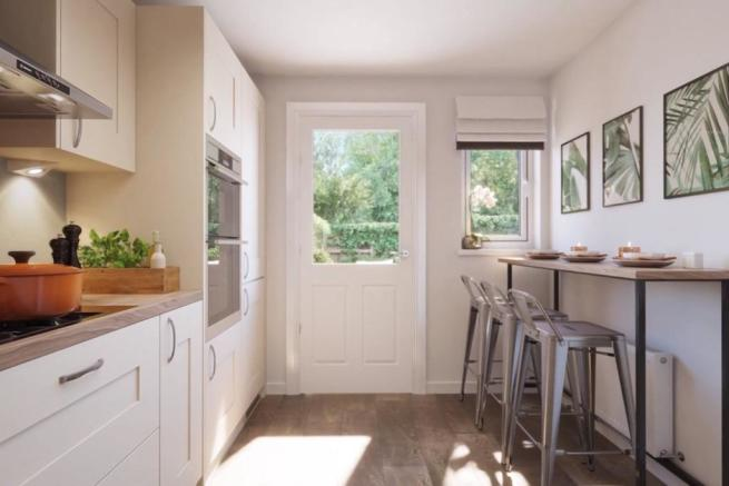Overlook the garden from your kitchen