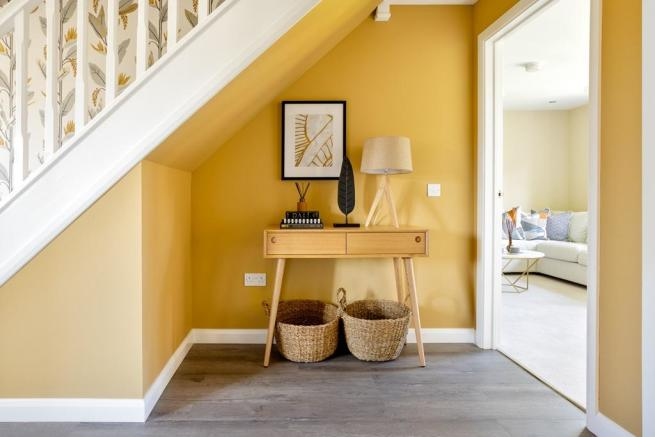 The Hume home has a bright hallway