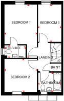 Hoy floor plan first floor at Wayland Fields