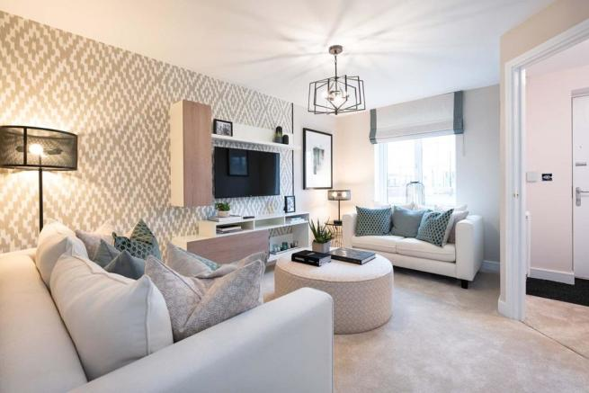 Plenty of space for two sofas