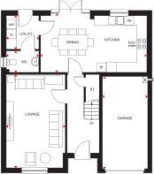 Ground floor plan of 4 bedroom Cullen