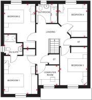 First floor plan of 4 bedroom Cullen