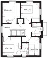 Floorplan of first floor of 4 bedroom Craigston