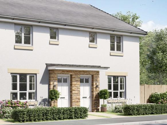 External image of semi-detached 3 bedroom Coull house type