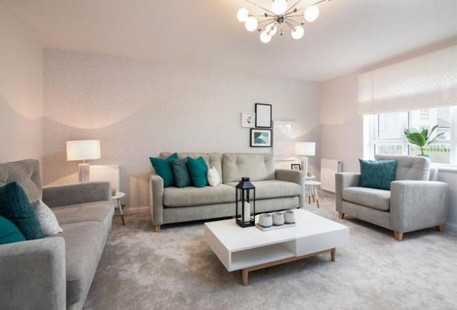 Lounge of the 3 bed home, The Coull