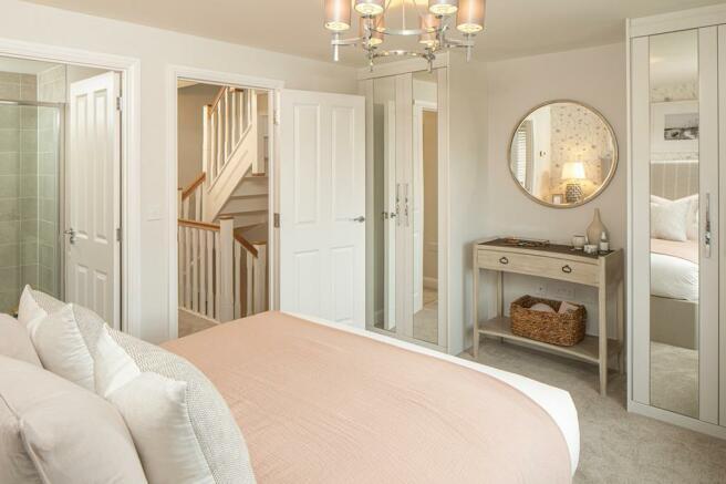 Kingsville show home bedroom