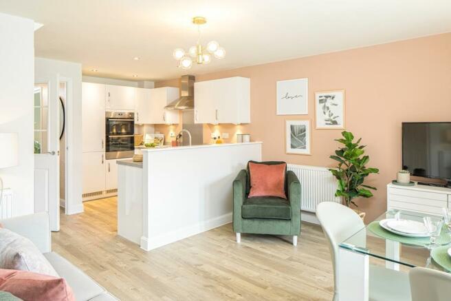 The Greenwood kitchen/ living/ diner