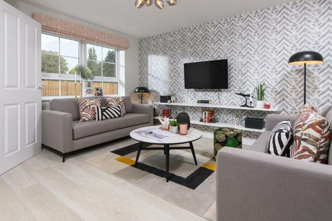 Lounge inside 3 bed Ellerton home