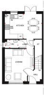 Typical ground floor plan for our Ellerton style 3 bedroom home