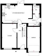 Ground floor plan of the Acorn at Bertone Gardens