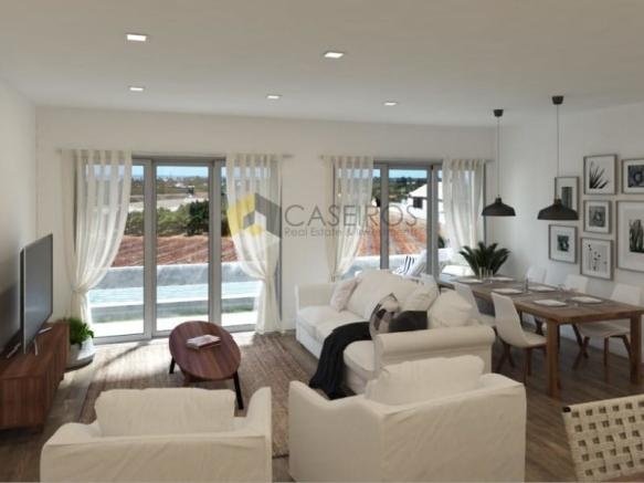 living room - New 2 bedroom apartment with garage and swimming pool - Tavira