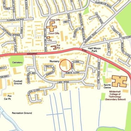 Mildenhall England Map.3 Bedroom Semi Detached House For Sale In Osprey Close Mildenhall