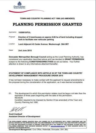 Planning Permission Granted