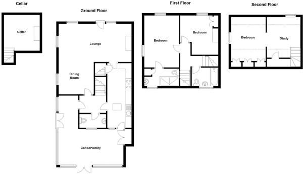 Parsons Cottage, The Green (Floorplan).JPG