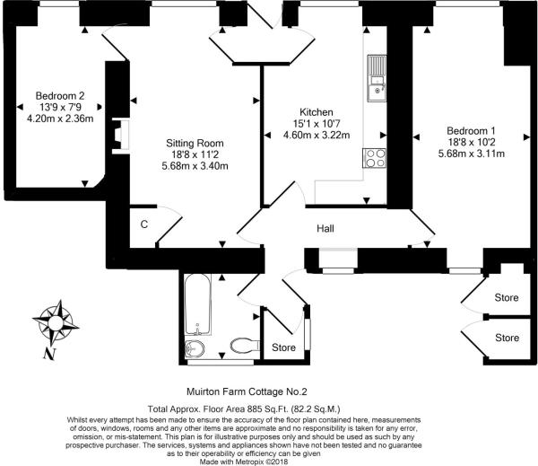 No 2 Cot. Floorplan