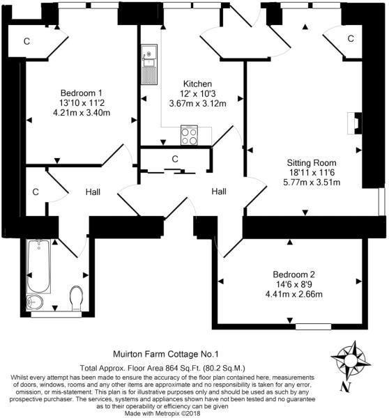No 1 Cot. Floorplan