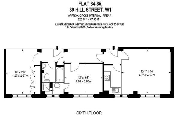 Floor Plan 728 sq ft