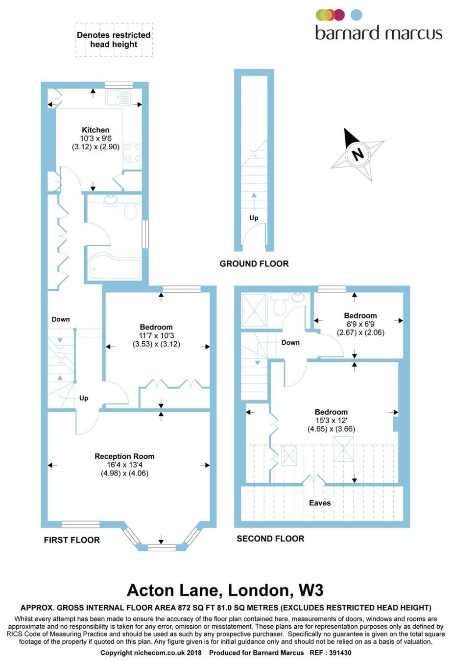3 Bedroom Flat For Sale In Acton Lane London W3