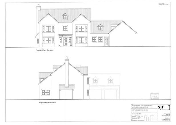 Revised Front & Side Elevations