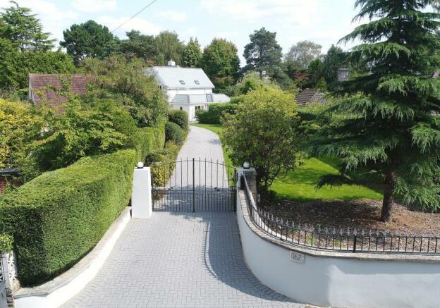 Driveway and gates