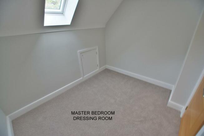 Master bedroom dressing area