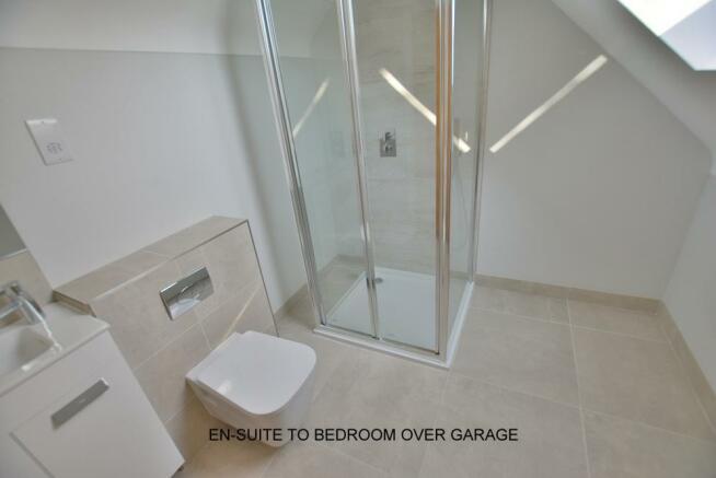 En-suite to bedroom over garage