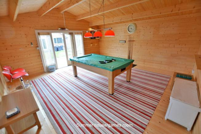 Log cabin/games room