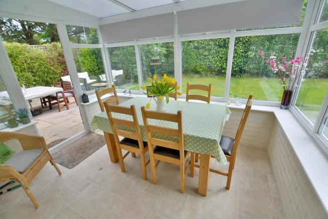 Conservatory (currently dining room)