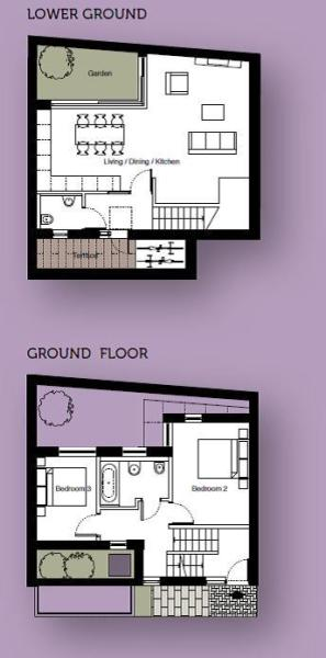 Lower Ground & Ground Floor - Floor plan