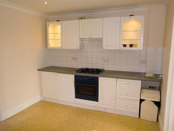 Kitchen with rrom for table