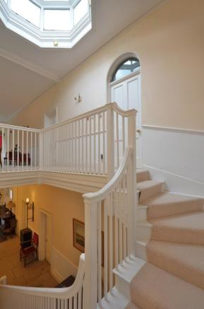 Staircase leading to first floor landing
