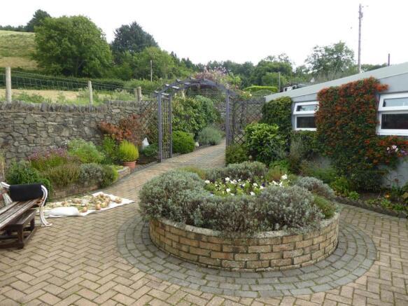 The house gardens