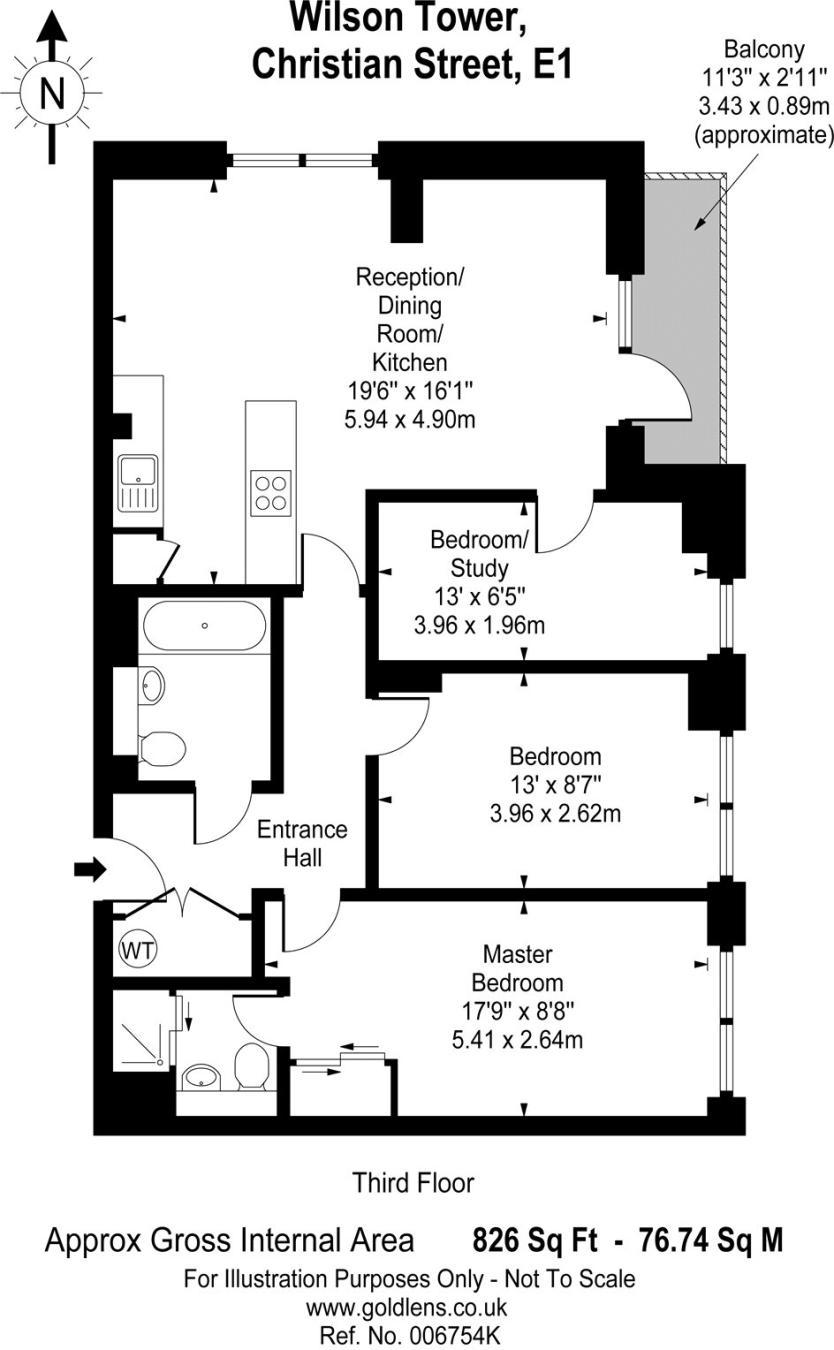 3 bedroom flat for sale in Wilson Tower, 16 Christian Street, London, E1